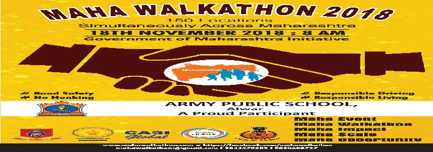 MAHA WALKATHON 2018 ARMY PUBLIC SCHOOL ALWAR A PROUD PARTICIPANT